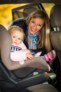 Child in passenger safety seat