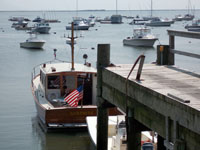 Boat off Duxbury Harbor