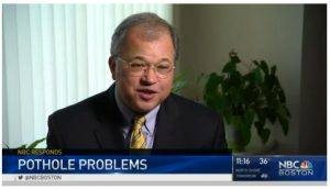 Attorney David W. White discusses Massachusetts pothole law for motor vehicle damages