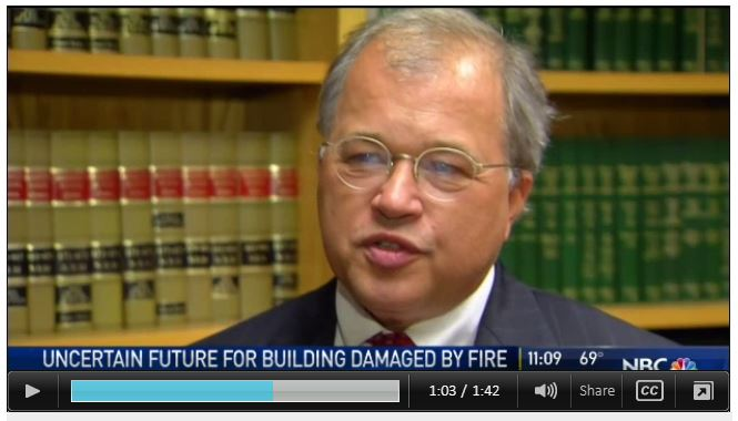 Attorney David W. White is interviewed by NBC Boston on the Dorchester building fire