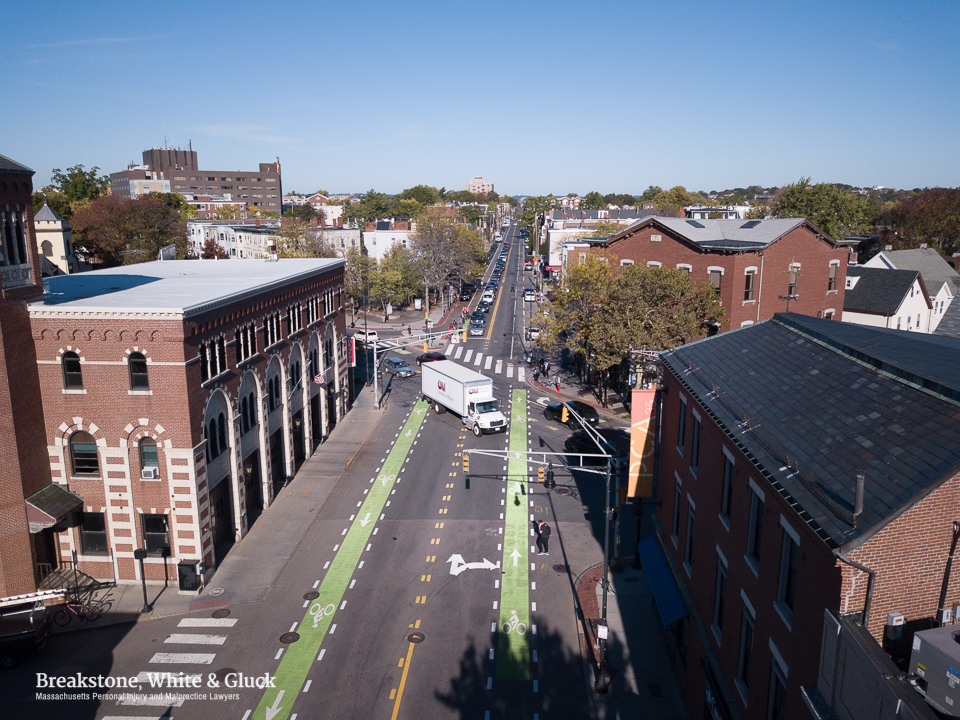 Aerial Photos Of Cambridges Inman Square Show Safety Improvements
