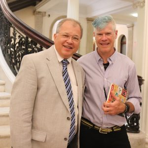 Attorney David W. White with Tom Francis, interim executive director of MassBike.