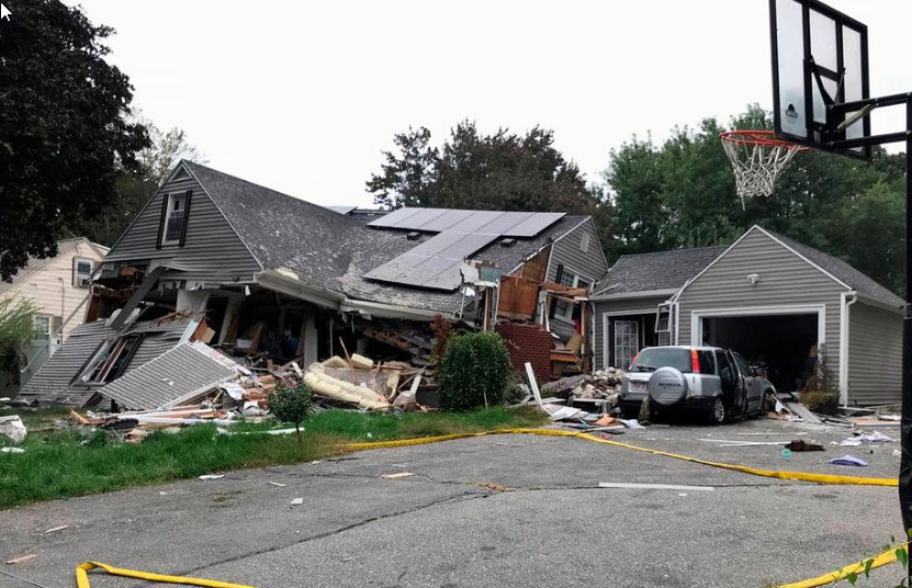 lawrence home explosion on chickering road