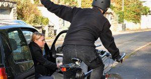 Dooring bicycle accident