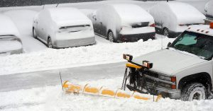 snow plow accidents can happen in parking lot