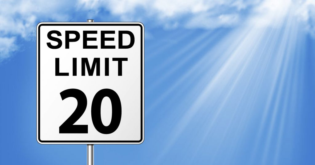 20 mph speed limit