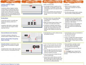Common Causes of Pedestrian Accidents Graphic - By FHWA