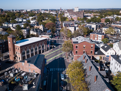 View from Inman Square, Cambridge