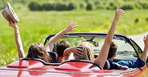 Driving in groups, teens face greater risks for car accidents.